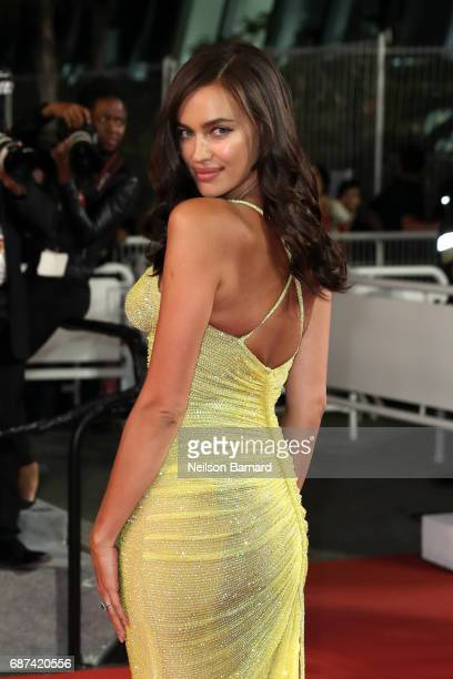 Irina Shayk attends the 'Hikari ' screening during the 70th annual Cannes Film Festival at Palais des Festivals on May 23 2017 in Cannes France