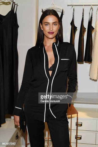 Irina Shayk attends the Intimissimi Grand Opening on October 18 2017 in New York United States