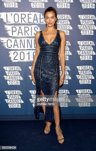 Irina Shayk attends the L'Oreal Paris Blue Obsession Party at the annual 69th Cannes Film Festival at Hotel Martinez on May 18 2016 in Cannes France