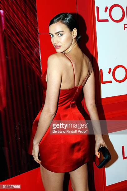 Irina Shayk attends the L'Oreal Red Obsession Party as part of the Paris Fashion Week Womenswear Fall/Winter 2016/2017 on March 8 2016 in Paris France