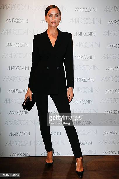 Irina Shayk attends the Marc Cain After Show VIP Reception MercedesBenz Fashion Week Berlin Autumn/Winter 2016 at the China Club on January 19 2016...