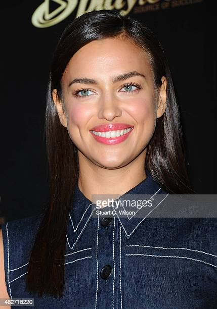 Irina Shayk attends the Playtech launch party at Gilgamesh on February 3 2015 in London England