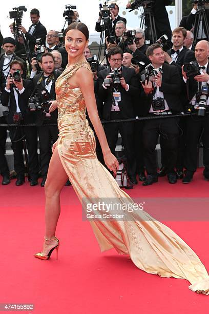 Irina Shayk attends the Premiere of 'Sicario' during the 68th annual Cannes Film Festival on May 19 2015 in Cannes France