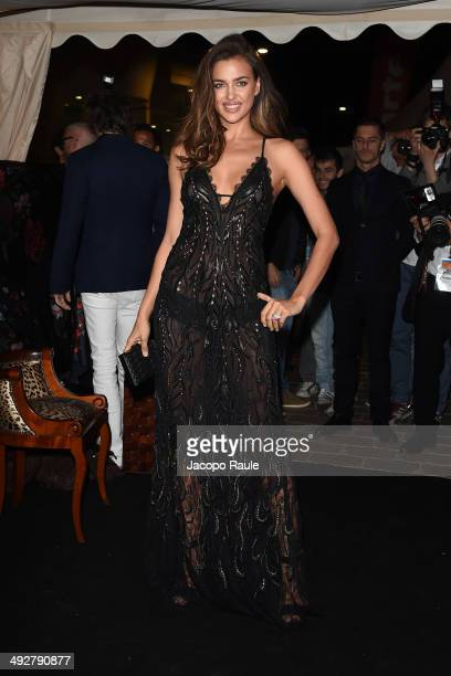 Irina Shayk attends the 'Roberto Cavalli Annual Party Aboard' Outside Arrivals at the 67th Annual Cannes Film Festival on May 21 2014 in Cannes France