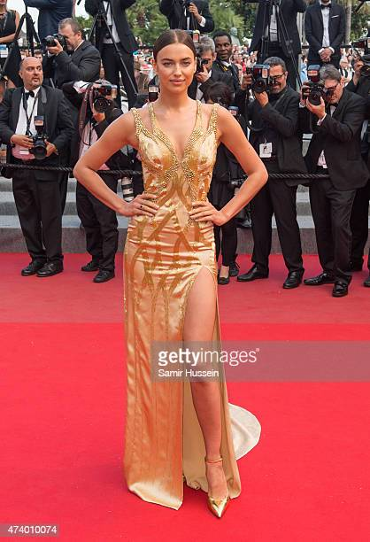 Irina Shayk attends the 'Sicario' Premiere during the 68th annual Cannes Film Festival on May 19 2015 in Cannes France
