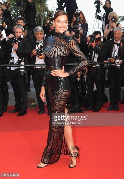 Irina Shayk attends the 'The Beguiled' screening during the 70th annual Cannes Film Festival at Palais des Festivals on May 24 2017 in Cannes France