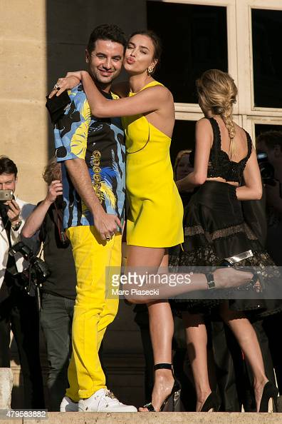 Irina Shayk attends the Versace show as part of Paris Fashion Week Haute Couture Fall/Winter 2015/2016 on July 5 2015 in Paris France