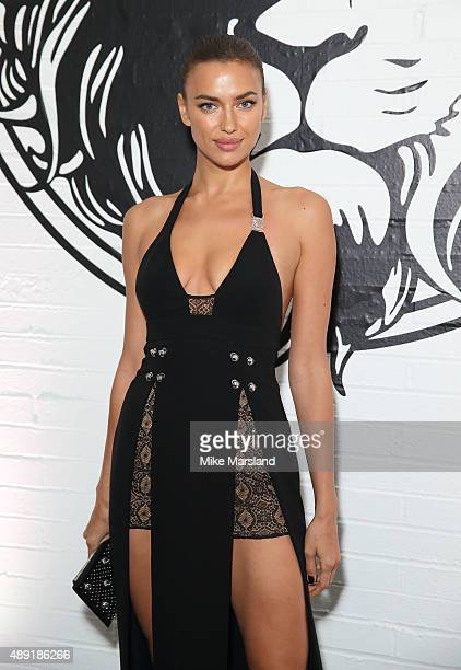 Irina Shayk attends the Versus show during London Fashion Week Spring/Summer 2016/17 on September 19 2015 in London England