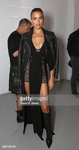 Irina Shayk attends the Versus show during London Fashion Week SS16 at Victoria House on September 19 2015 in London England