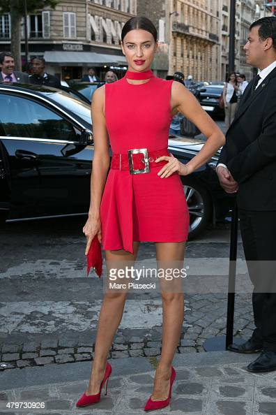 Irina Shayk attends the 'VOGUE' party on July 6 2015 in Paris France