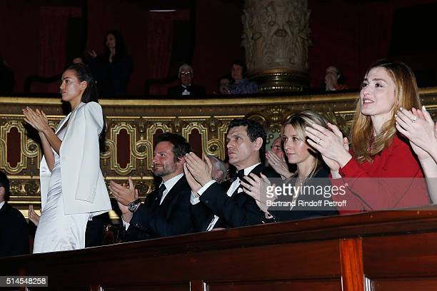 Irina Shayk Bradley Cooper Marc Lavoine Sarah Lavoine and Julie Gayet attend the Arop Charity Gala At the Opera Garnier under the auspices of Madam...