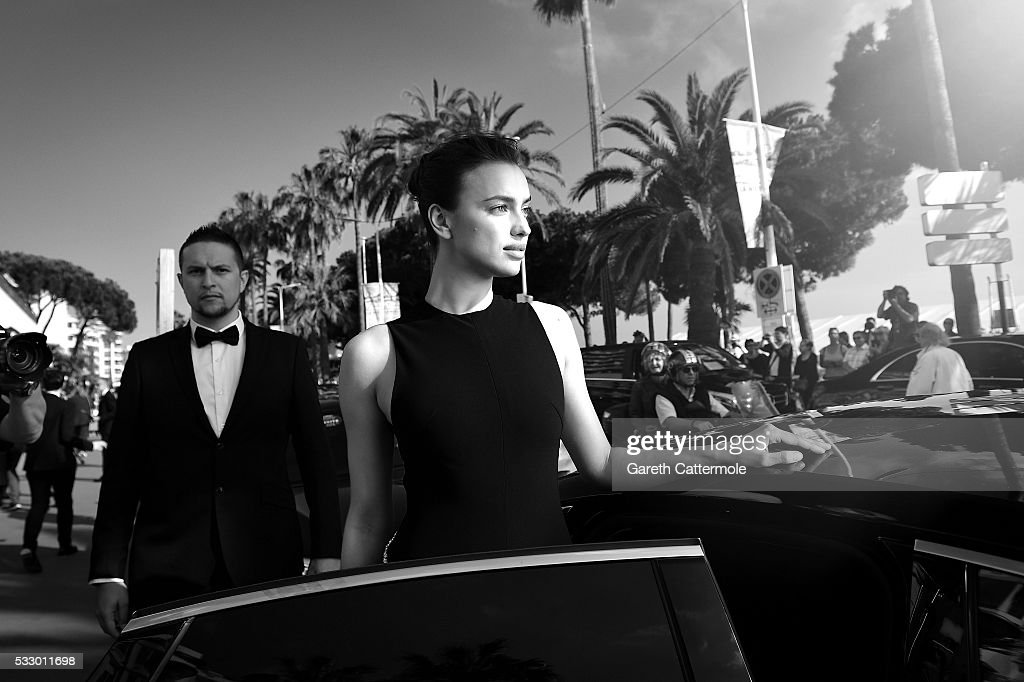 Irina Shayk departs the Martinez Hotel during the 69th annual Cannes Film Festival on May 17 2016 in Cannes France
