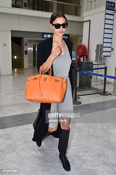 Irina Shayk is seen at Nice Airport during the 68th annual Cannes Film Festival on May 22 2015 in Cannes France