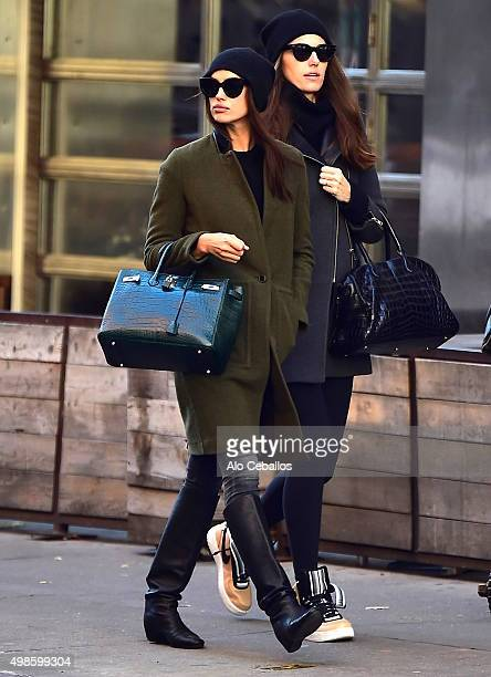Irina Shayk is seen in Soho on November 24 2015 in New York City