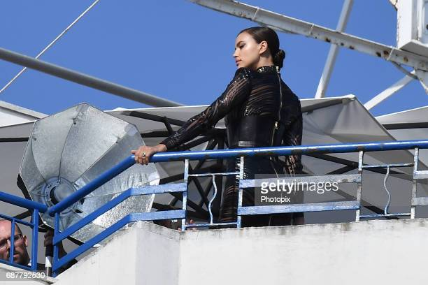 Irina Shayk is spotted during the 70th annual Cannes Film Festival at on May 24 2017 in Cannes France