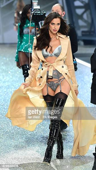 Irina Shayk on the catwalk during the Victoria's Secret fashion show held at The Grand Palais in Paris France