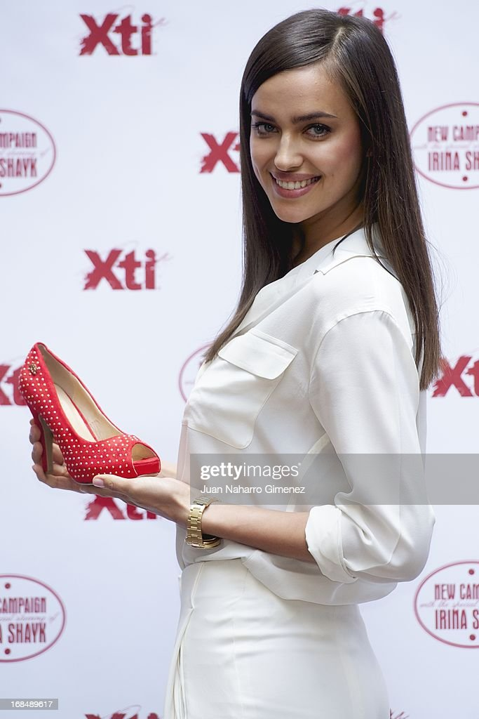 Irina Shayk presents the new Xti shoe collection at Hospes Hotel on May 10, 2013 in Madrid, Spain.