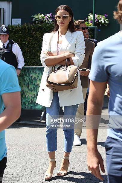 Irina Shayk seen arriving at Wimbledon on July 6 2016 in London England