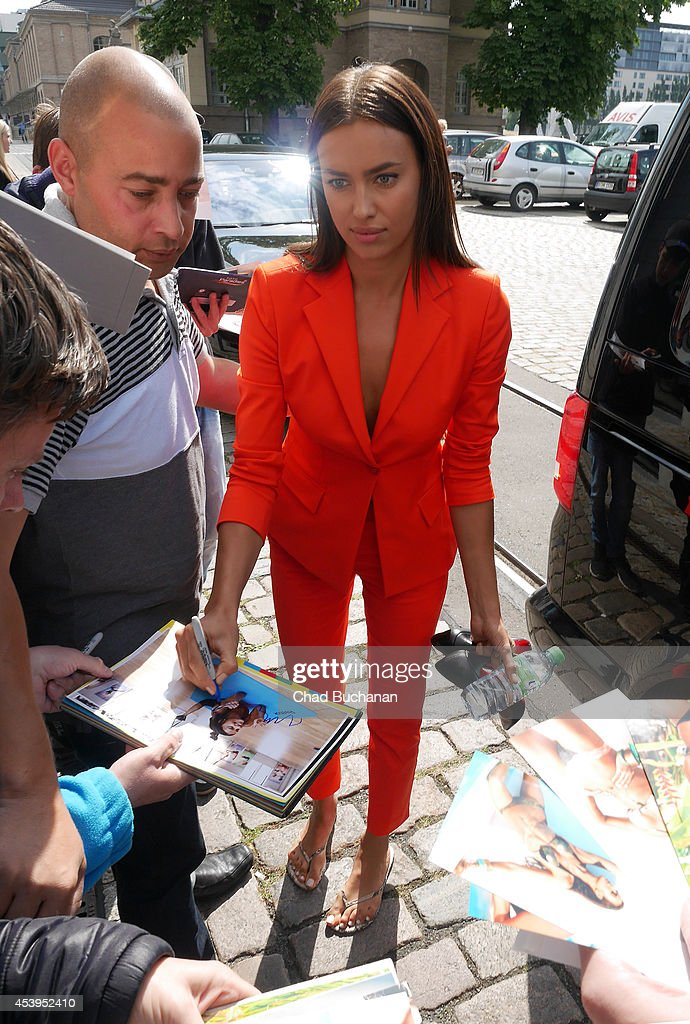 Irina Shayk sighted at Sat1 television studio on August 22, 2014 in Berlin, Germany.