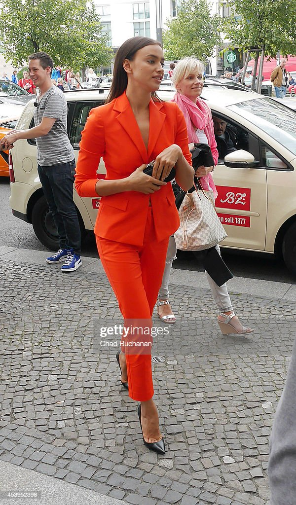 Irina Shayk sighted at the Adlon Hotel on August 22, 2014 in Berlin, Germany.