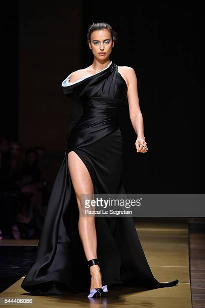Irina Shayk walks the runway during the Atelier Versace Haute Couture Fall/Winter 20162017 show as part of Paris Fashion Week on July 3 2016 in Paris...