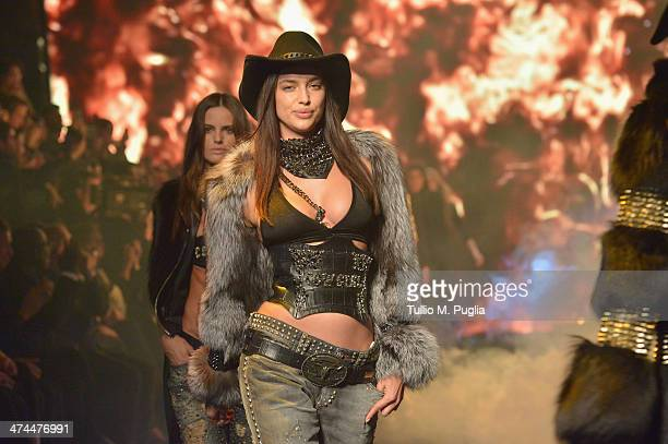 Irina Shayk walks the runway during the Philipp Plein show as part of Milan Fashion Week Womenswear Autumn/Winter 2014 on February 23 2014 in Milan...