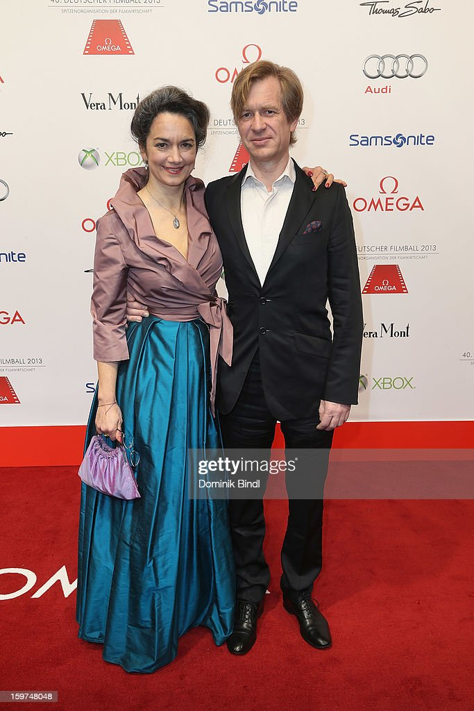 Irina Wanka and Roland Kuhne Wanka attend the Germany Filmball 2013 at Hotel Bayerischer Hof on January 19, 2013 in Munich, Germany.