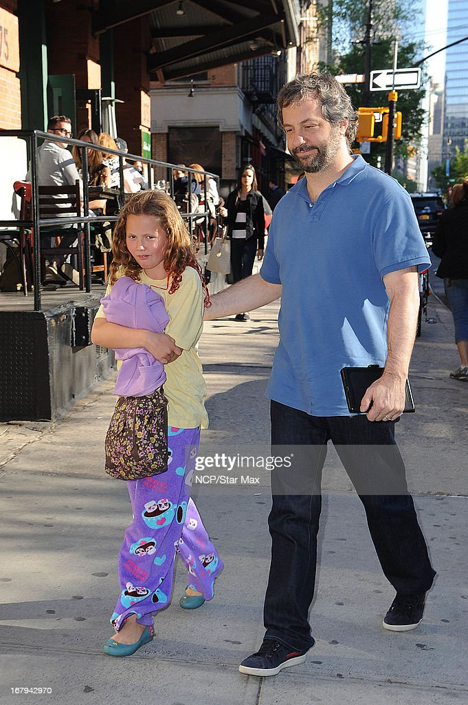 Iris Apatow and Judd Apatow as seen on May 2, 2013 in New York City.