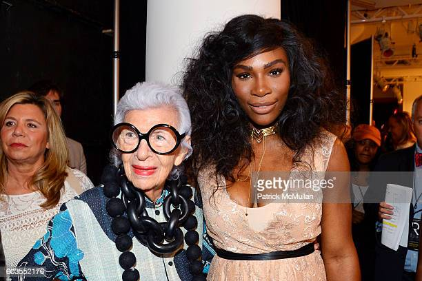 Iris Apfel and Serena Williams attend Serena Williams Signature Statement Collection By HSN Backstage September 2016 Style360 Fashion Week at KIA...