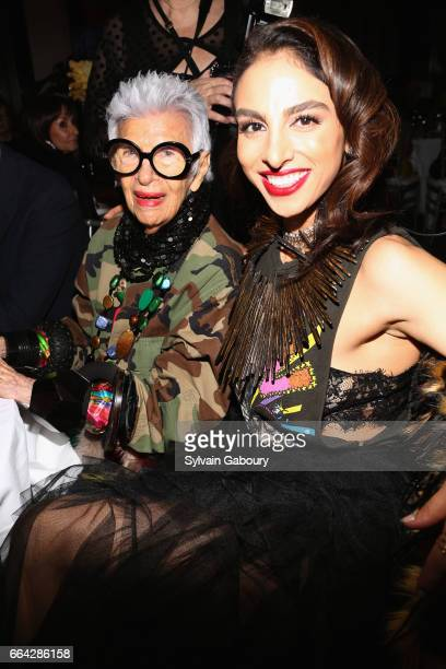 Iris Apfel and Shari Siadat Loeffler attend 17th Edition of LOOT MAD About Jewelry at Museum Of Arts And Design on April 3 2017 in New York City