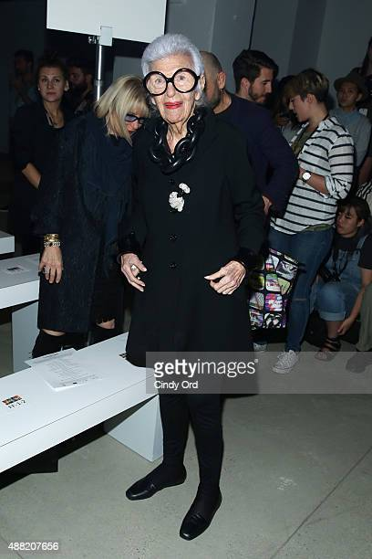 Iris Apfel attends Libertine Spring 2016 during New York Fashion Week The Shows at The Gallery Skylight at Clarkson Sq on September 14 2015 in New...