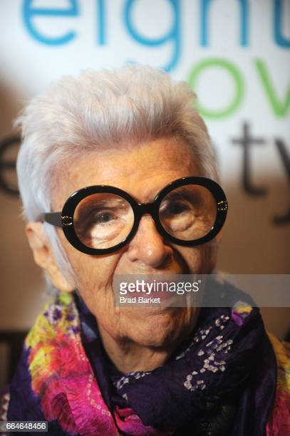 Iris Apfel attends the 4th Annual 'Eight Over Eighty' Benefit Gala Honors at Mandarin Oriental New York on April 4 2017 in New York City