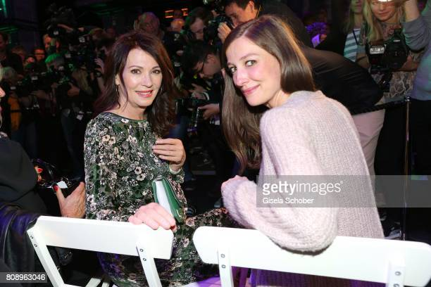 Iris Berben and Alexandra Maria Lara during the Marc Cain Fashion Show Spring/Summer 2018 at ewerk on July 4 2017 in Berlin Germany