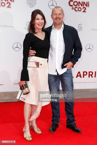 Iris Berben and Heino Ferch attend the 'Conni Co 2 Das Geheimnis des TRex' premiere on April 9 2017 in Berlin Germany