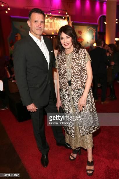 Iris Berben and her boyfriend Heiko Kiesow during the BUNTE BMW Festival Night 2017 during the 67th Berlinale International Film Festival Berlin at...