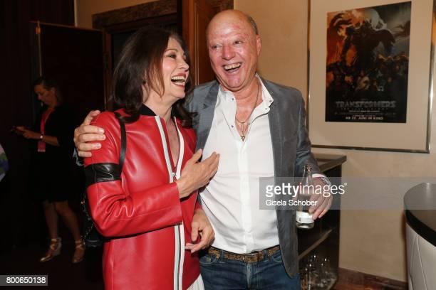 Iris Berben and her former partner Gabriel Lewy during the premiere of 'Ferdinand von Schirach Schuld Staffel 2 ' at Gloria Palast on June 24 2017 in...