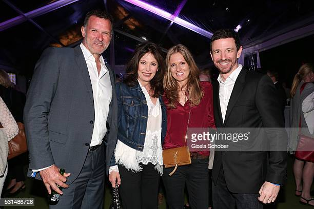 Iris Berben and her partner Heiko Kiesow and her son Oliver Berben and his wife Katrin Berben during the German Films Reception at the annual 69th...