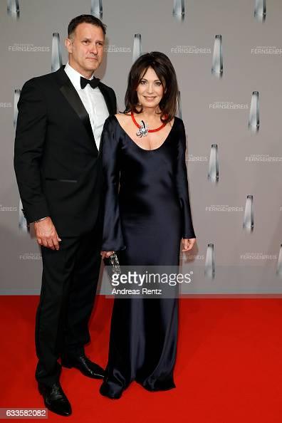 Iris Berben and her partner Heiko Kiesow attend the German Television Award at Rheinterrasse on February 2 2017 in Duesseldorf Germany