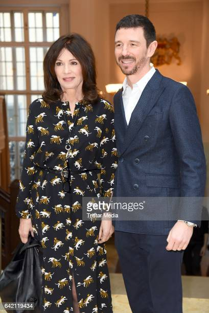 Iris Berben and her son Oliver Berben attend the FFF Reception 2017 during the 67th Berlinale International Film Festival on February 16 2017 in...