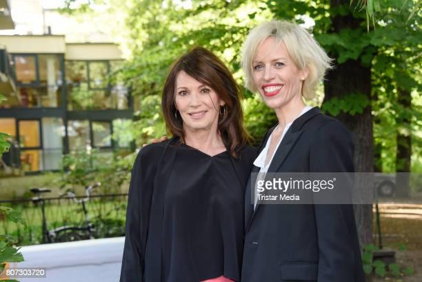 Iris Berben and Katja Eichinger attend 'Mix It Ein filmpraktisches Projekt mit einheimischen und gefluechteten Jugendlichen' Premiere on July 3 2017...