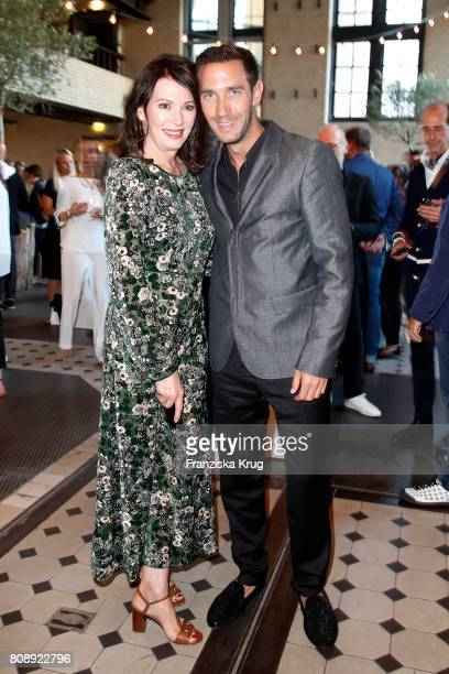 Iris Berben and Marcel Remus attend the Marc Cain Fashion Show After Party Spring/Summer 2018 at ewerk on July 4 2017 in Berlin Germany