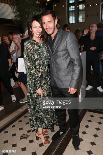 Iris Berben and Marcel Remus during the Marc Cain Fashion Show after show party Spring/Summer 2018 at ewerk on July 4 2017 in Berlin Germany