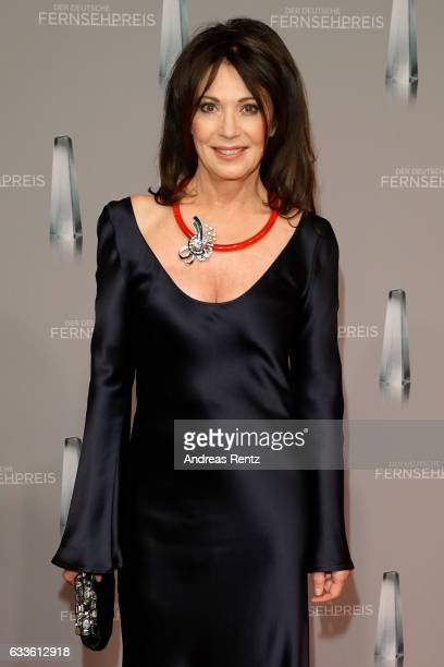 Iris Berben arrives for the German Television Award at Rheinterrasse on February 2 2017 in Duesseldorf Germany