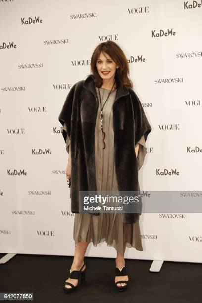 Iris Berben at the Sparkling Looks reception and trunk show at KaDeWe on February 16 2017 in Berlin Germany