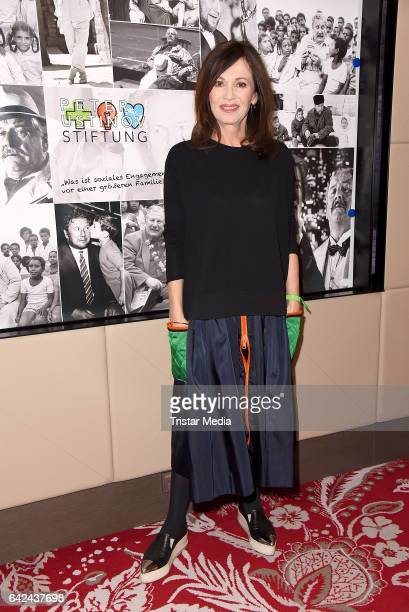 Iris Berben attends the Green Carpet Lounge of Peter Ustinov foundation during the 67th Berlinale International Film Festival on February 17 2017 in...