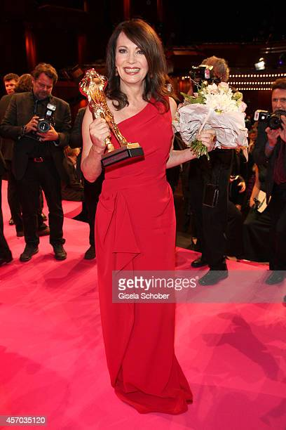Iris Berben attends the Hessian Film And Cinema Award 2014 on October 10 2014 at Alte Oper in Frankfurt am Main Germany