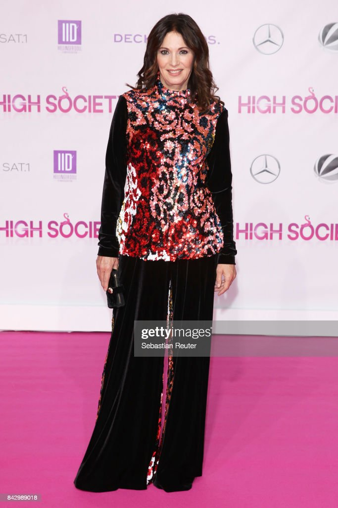 Iris Berben attends the 'High Society' premiere at CineStar on September 5, 2017 in Berlin, Germany.