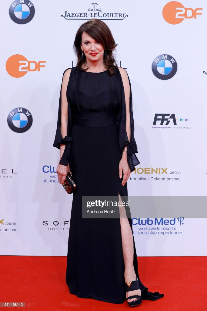 Iris Berben attends the Lola - German Film Award red carpet at Messe Berlin on April 28, 2017 in Berlin, Germany.