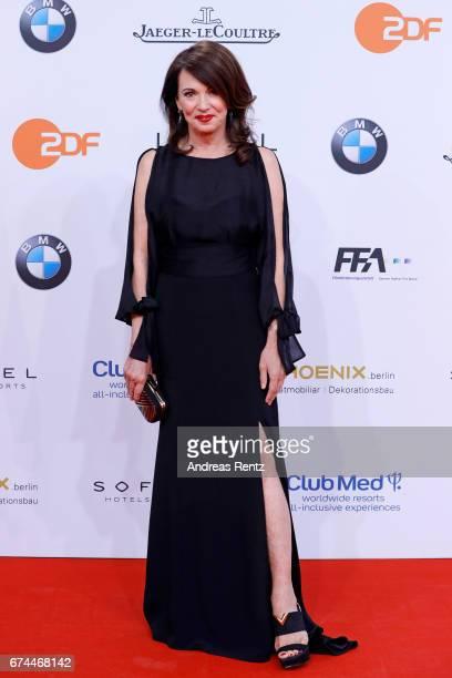 Iris Berben attends the Lola German Film Award red carpet at Messe Berlin on April 28 2017 in Berlin Germany