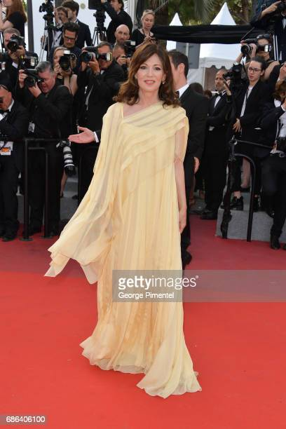 Iris Berben attends 'The Meyerowitz Stories' screening during the 70th annual Cannes Film Festival at Palais des Festivals on May 21 2017 in Cannes...